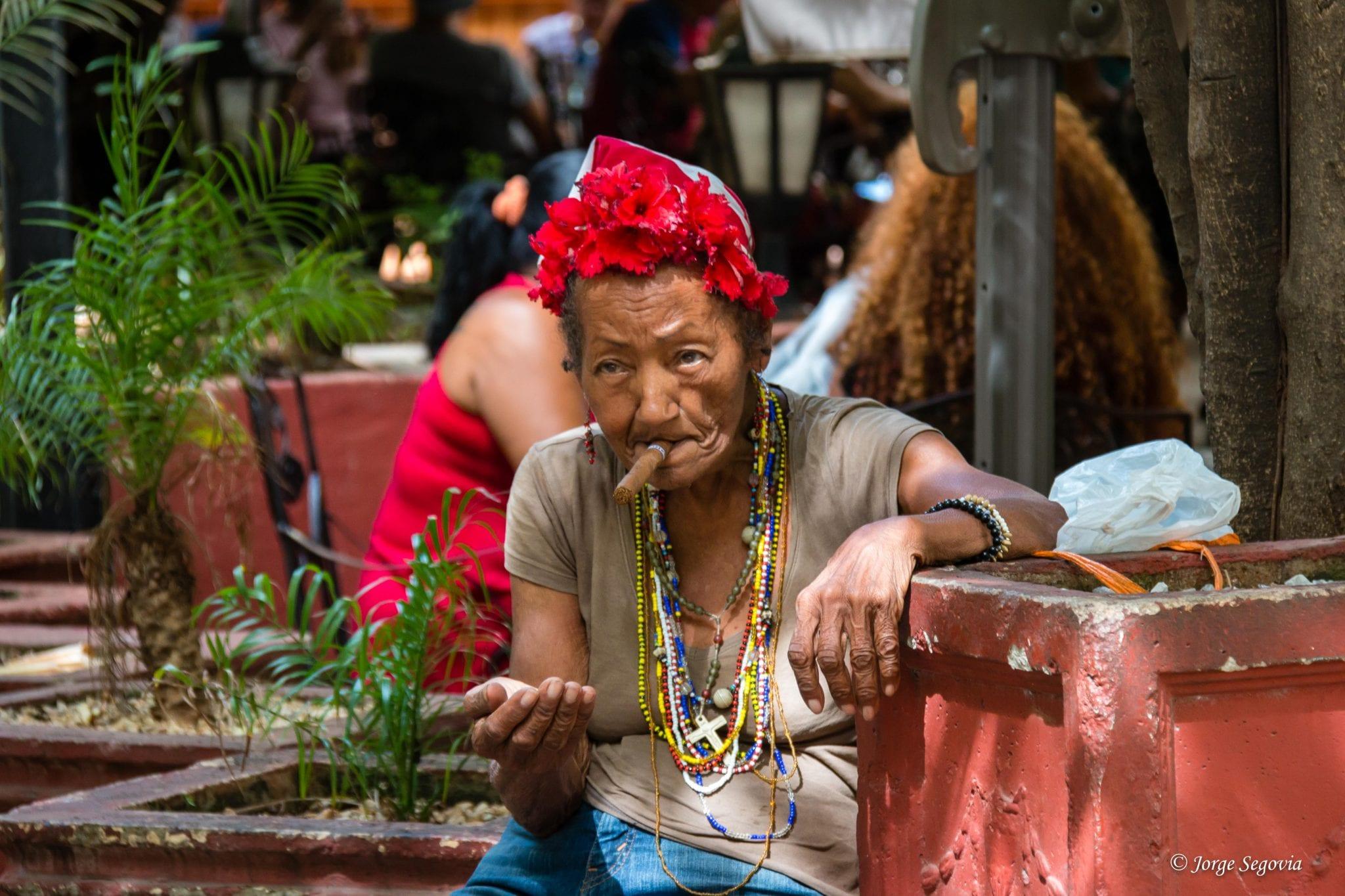 Fumadora en La Habana